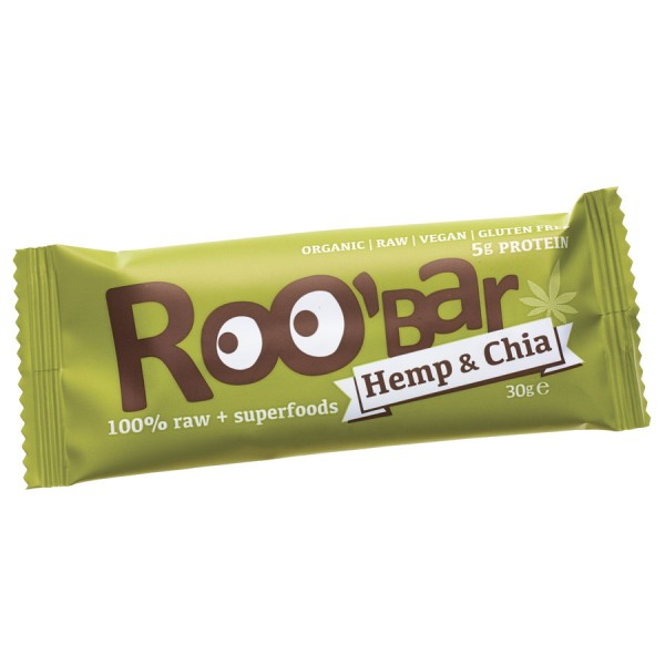 Roo bar Bio Riegel Hemp & Chia  gf. 30 g