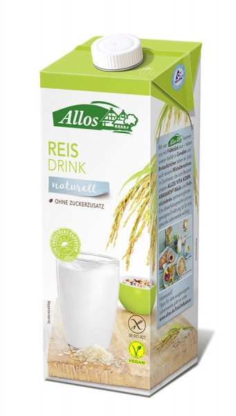 Allos Bio Reis Drink naturell gf. 1 L